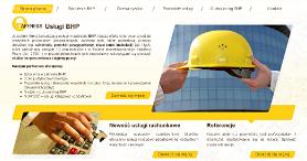 Strona internetowa Safeness - usługi BHP Chorzów